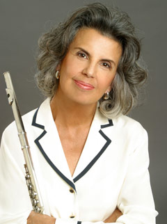 Jeanne Baxtresser: White Blouse with Flute