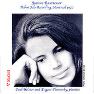 Jeanne Baxtresser, Debut Solo Recording, Montreal 1977