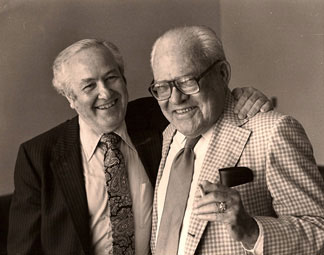 Dear friends and colleagues—Julius and Maurice Sharp of the Cleveland Orchestra. 1982