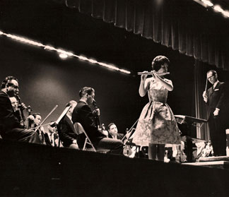 Performance with the Minneapolis Symphony (14 years old), Frederick Fennell, conducting.