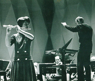 Performing Mozart with the Minneapolis Symphony, Frederick Fennell conducting; age 14